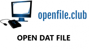 how to open dat files