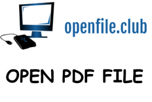 How to open pdf files